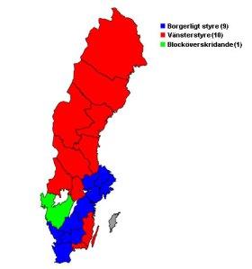 Starka & svaga regioner i Sverige