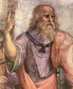Platon pekar visar vägen