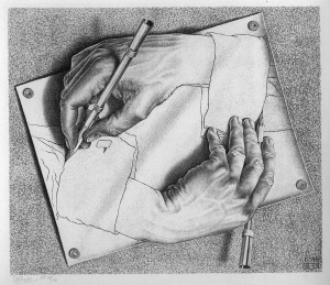 29_Drawing Hands by Escher