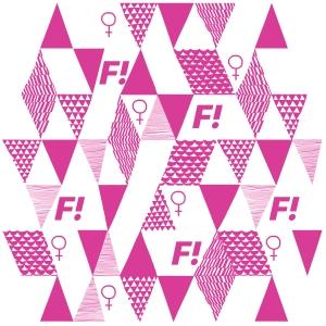 Feministiskt Initiativ mönster tygpåse